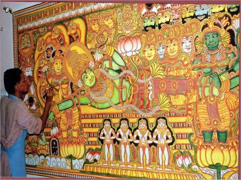 Vishnu lying on Serpent Ananda