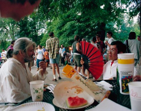 Gregory Corso & Bataan Faigo 4th Of July Picnic Naropa University Photo by Seth Brigham