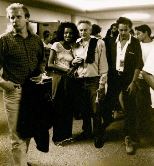 Michael McClure With Friends And Others Lobby of Boulder High School Auditorium July 1994 Photo by Seth Brigham