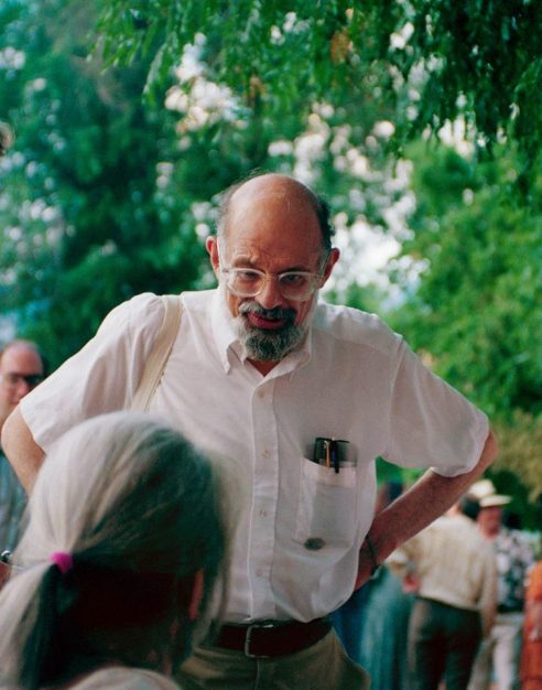 Allen Ginsberg talks with Gregory Corso 4th of July Picnic Naropa University Photo by Seth Brigham