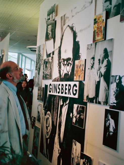"Allen Ginsberg Photo Exhibit ""In And Out Of Town"" Boulder Public Library July 1994 Photo by Seth Brigham"