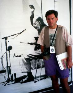"Seth Brigham at Allen Ginsberg Photo Exhibit ""In And Out Of Town"" Boulder Public Library July 1994 Photo by Donald L Brigham"