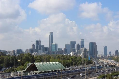 View of Downtown Tel Aviv from the University