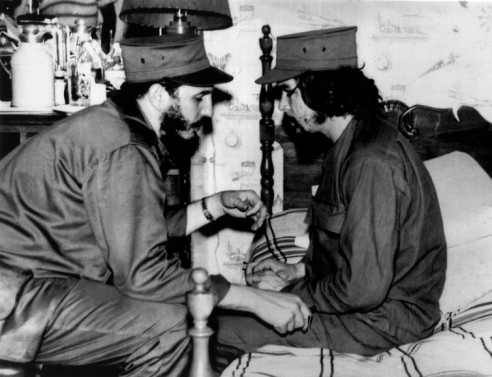 Castro with Che Guevara in 1959. EPA