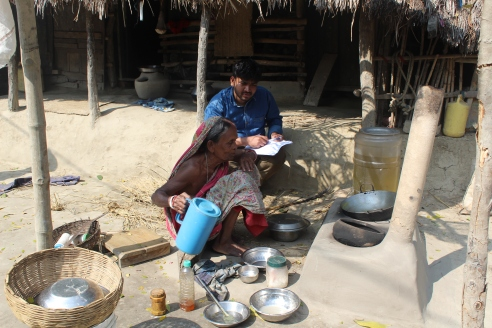 Household survey and interaction with the villagers