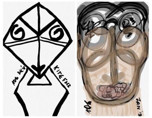 Expressionist Portrait Duo ADG