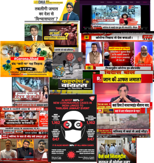 Pic 1. Corona News collage